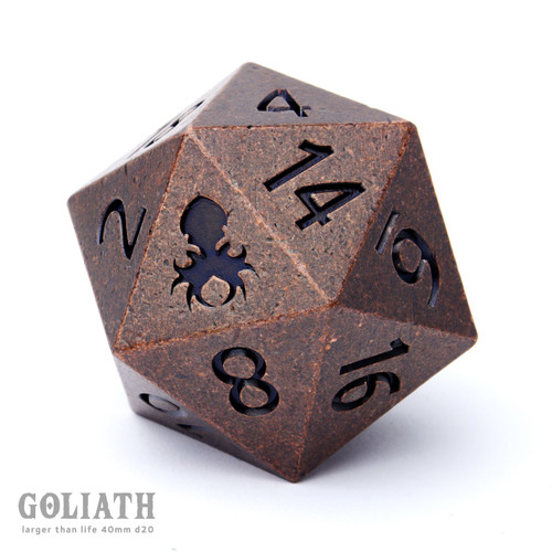 Goliath Dwarven Copper 40mm Single D20