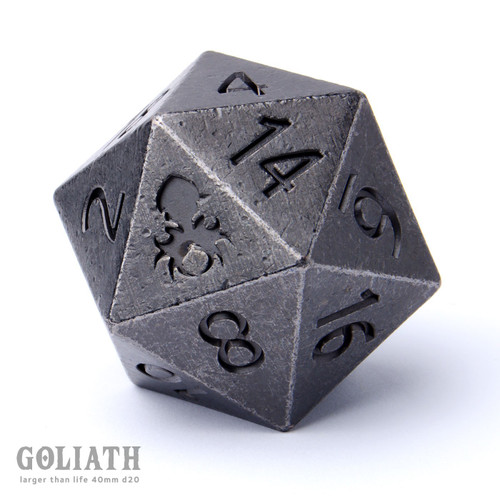 Goliath Dwarven Steel 40mm Single D20