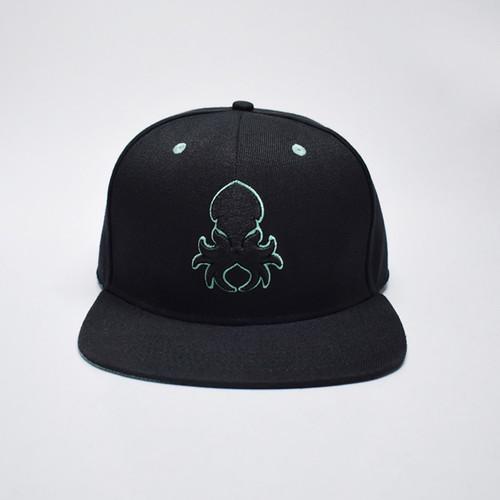Kraken Logo Teal Silhouette Snapback Lifestyle Hat