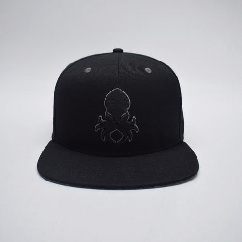 Kraken Logo Grey Silhouette Snapback Lifestyle Hat