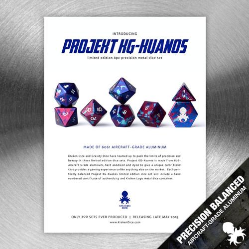 Projekt KG-Kuanos Precision Aluminum Dice Set