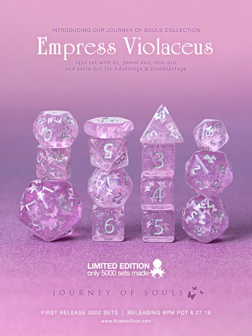 Empress Violaceus 14pc Limited Edition Dice Set