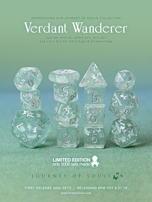 Verdant Wanderer 14pc Limited Edition Dice Set