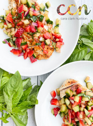 Grilled Lemon Chicken with Strawberry Basil Salsa