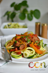 Simple Chicken Sausage Zoodles