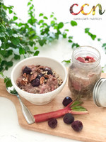 Cherry Rhubarb Overnight Oats