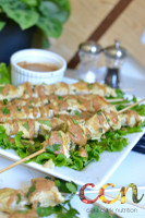 Peanut Chicken Satay Skewers