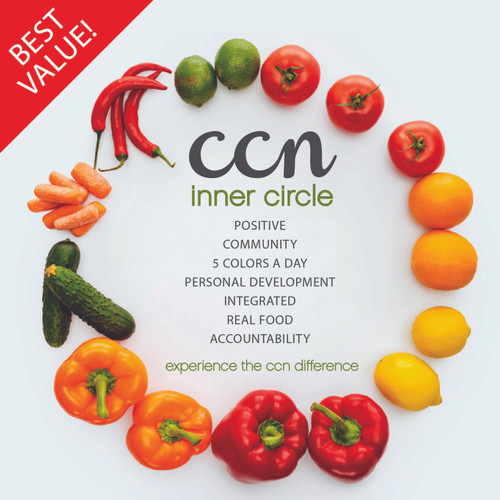 The CCN Difference includes all of ur 3 four-week challenges, all our 2-week challenges, and our annual 10-day detox. Additionally, it includes a FREE challenge to giveaway to a friend (1x per year), a free cookbook (1x per year), a monthly check-in from Cara and other bonuses throughout the year!