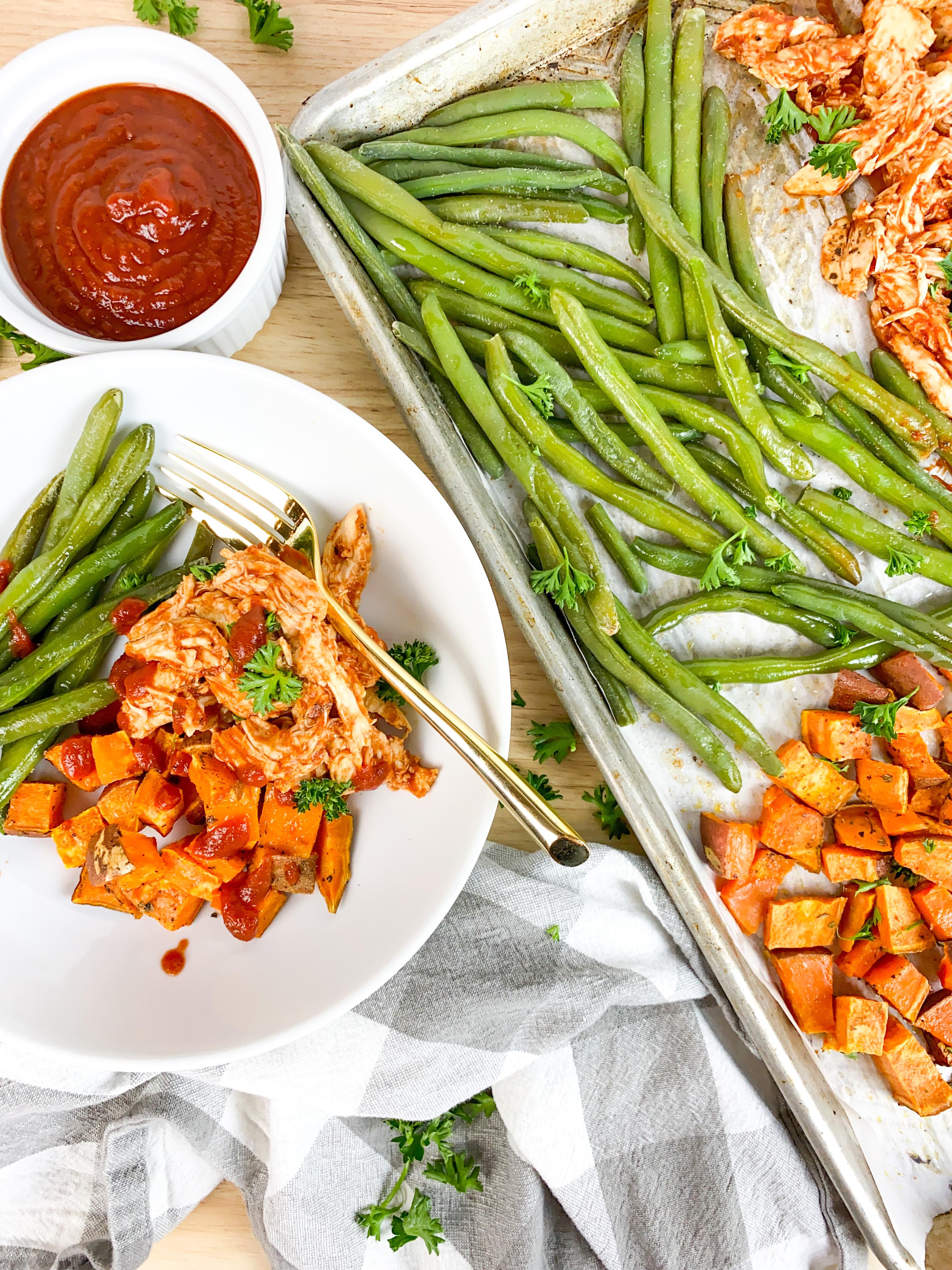 BBQ Chicken Sheet Pan Dinner