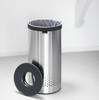 Brabantia 35 Litre Matt Steel Laundry Bin with Black Plastic Lid