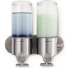 simplehuman Twin Shampoo and Soap Dispenser
