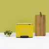 Bo Pedal Bin With 3 Inner Buckets, 3 x 11 Litre - Daisy Yellow