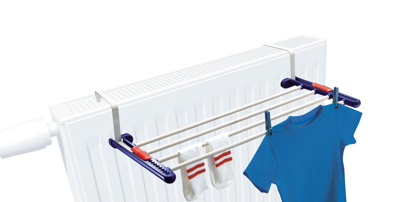 Leifheit Quartett Universal Radiator Clothes Dryer Airer Rail Laundry Balconies