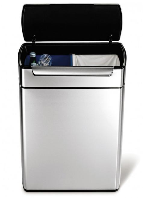 simplehuman 48 litre touch-bar recycler bin
