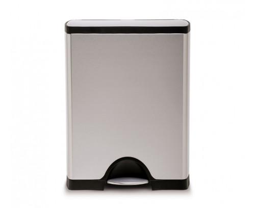 Simplehuman 50 Litre Brushed Stainless Steel Rectangular Kitchen Bin
