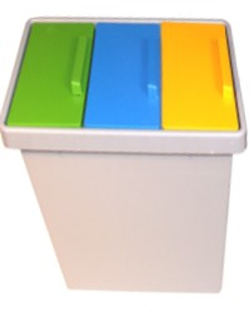 POLYCYCLE 3 x 13 Litre Trio Recycling Bin