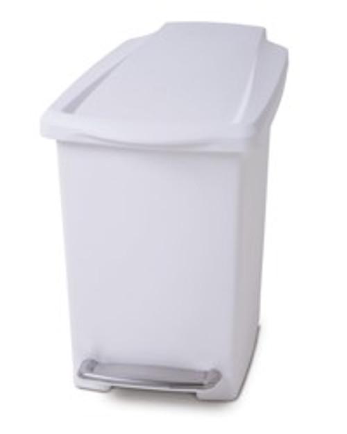 simplehuman 10 litre White Bathroom Slim Pedal Bin