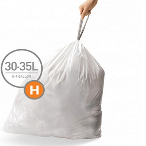 simplehuman SureFit Perfect Fit Bin Liners Size H