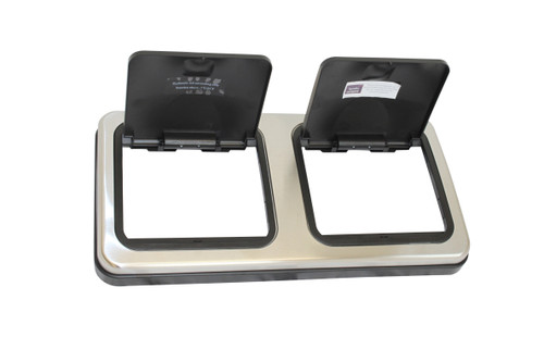 60 Litre Duo Brushed Lid Complete Spares