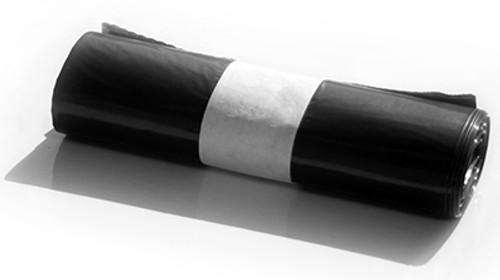 Strong Recycled Refuse Black Bin Liner Sacks (Rolls of 10)