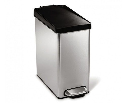 simplehuman 10 Litre Stainless Steel Profile Pedal Bin