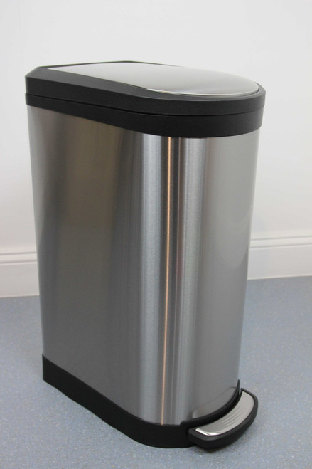 40L Profile Brushed Stainless Steel Pedal Bin with Soft Close Lid