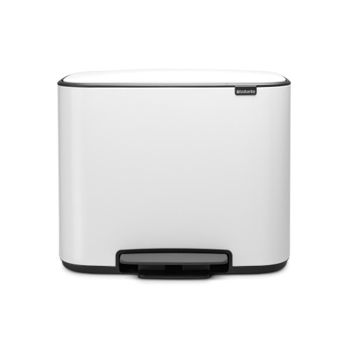 Bo Pedal Bin With 1 Inner Bucket, 36 Litre - White