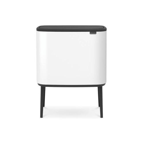 Bo Touch Bin With 1 Inner Bucket, 36 Litre - White