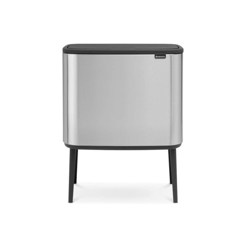 Bo Touch Bin With 1 Inner Bucket, 36 Litre - Matt Steel