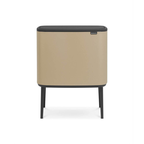 Bo Touch Bin With 1 Inner Bucket, 36 Litre - Mineral Golden Beach