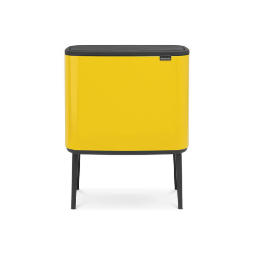 Bo Touch Bin With 2 Inner Buckets, 11 + 23 Litre - Daisy Yellow