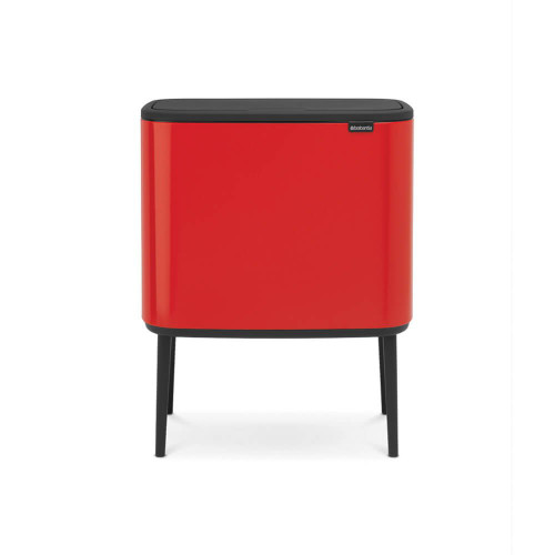 Bo Touch Bin With 3 Inner Buckets, 3 x 11 Litre - Passion Red