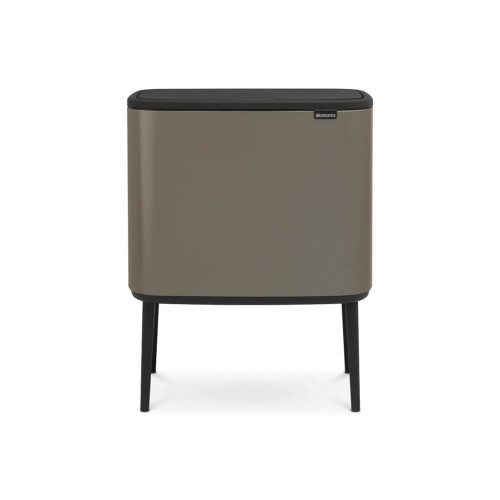 Bo Touch Bin With 3 Inner Buckets, 3 x 11 Litre - Platinum