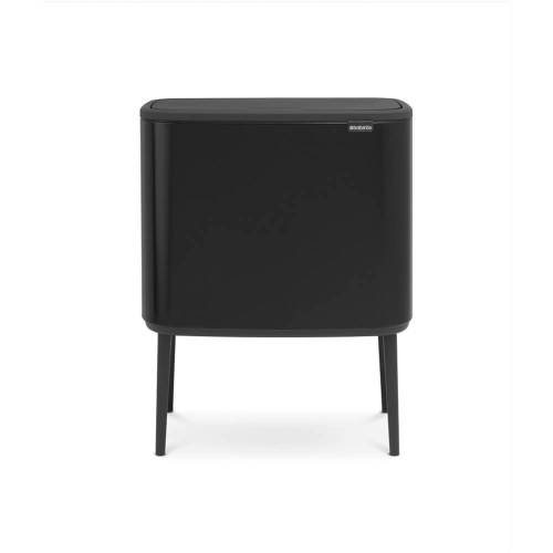 Bo Touch Bin With 3 Inner Buckets, 3 x 11 Litre - Matt Black