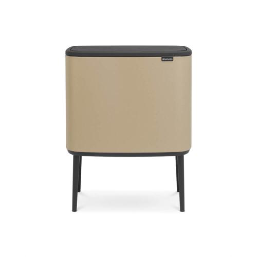 Bo Touch Bin With 3 Inner Buckets, 3 x 11 Litre - Golden Beach