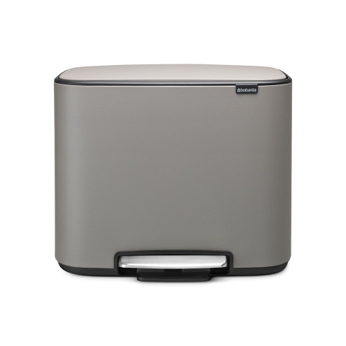 Bo Pedal Bin With 1 Inner Bucket, 36 Litre - Concrete Grey