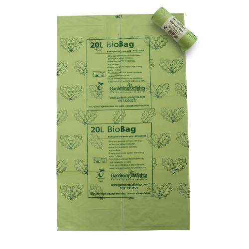 20 litre Biodegradable & Compostable Liners (Rolls of 25)
