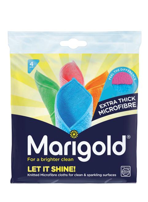 Marigold Let It Shine Microfibre Cloths - 4 pack