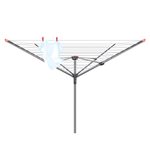 Vileda 45m 4 Arm Rotary Dryer Set with Ground Spike and Pegs