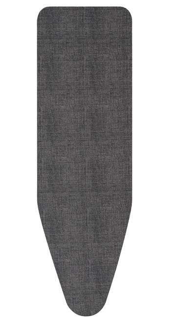 Brabantia Denim Black Replacement Ironing Board Cotton Cover 2mm Foam Underlay Size E
