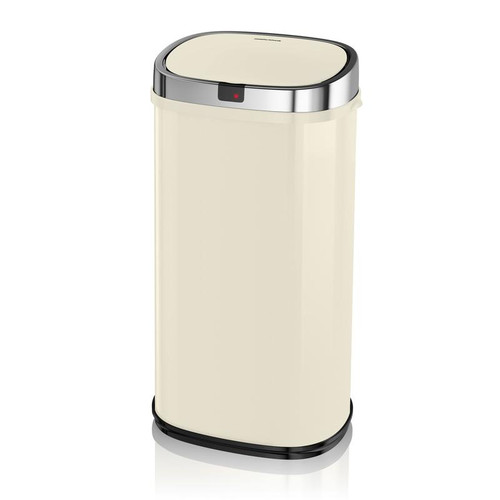 Morphy Richards Chroma 42L Square Sensor Bin Ivory Cream