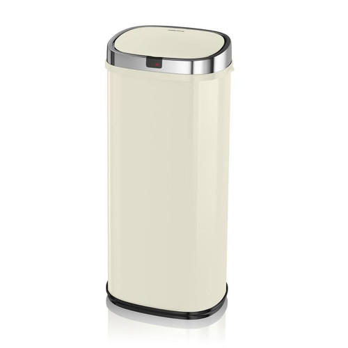 Morphy Richards Chroma 50L Square Sensor Bin Ivory Cream