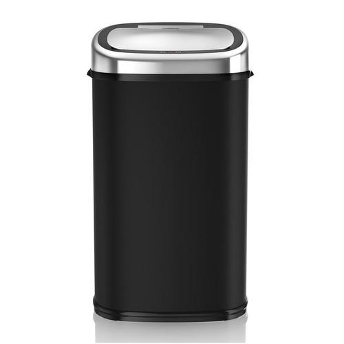 Tower 58L Stainless Steel Sensor Bin Black