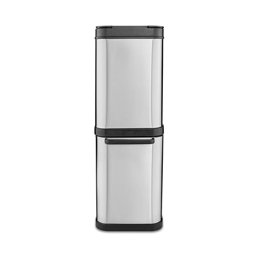 Tower Freedom 50L Dual Recycling Bin Stainless Steel