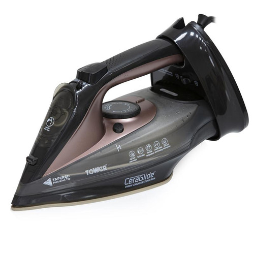 Tower Rose Gold 2400W Cord Cordless Steam Iron