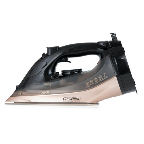 Tower Ceraglide 2800W Steam Iron Black and Gold