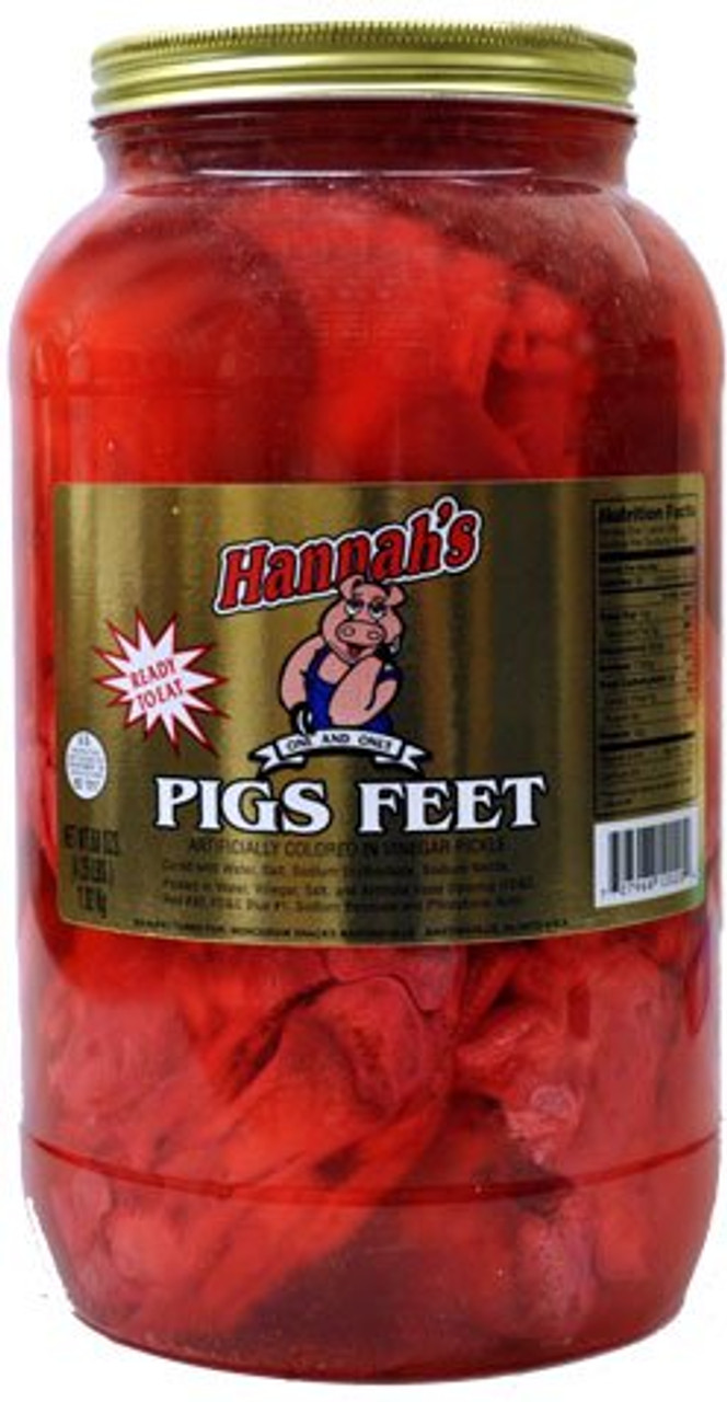 Hannah S Pickled Pig S Feet Gallon Www Pickledstore Com