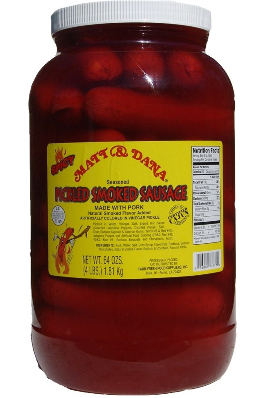 Pickled Smoked Sausage Gallon Www Pickledstore Com