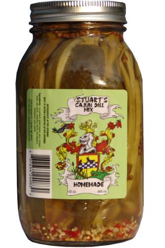 Stuart's Cajun Dill Mix - Case of 12 Quart Jars