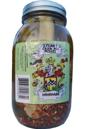 Stuart's Cajun Dill Pickles - Case of 12 Quart Jars